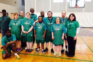 Special Olympics Group in Basketball Court